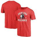 Houston Rockets Fanatics Branded Star Wars Alliance Tri-Blend T-Shirt - Red