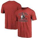 Miami Heat Fanatics Branded Star Wars Alliance Tri-Blend T-Shirt - Cardinal