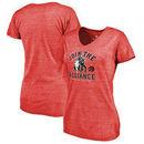 Toronto Raptors Fanatics Branded Women's Star Wars Alliance Tri-Blend T-Shirt - Red