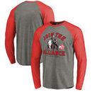 Atlanta Hawks Fanatics Branded Star Wars Alliance Tri-Blend Long Sleeve T-Shirt - Heathered Gray