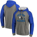 Dallas Mavericks Fanatics Branded Star Wars Alliance Raglan Sleeve Pullover Hoodie - Heathered Gray