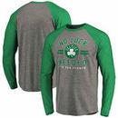 Boston Celtics Fanatics Branded No Luck Hometown Long Sleeve Raglan Tri-Blend T-Shirt – Heathered Gray