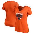 Houston Astros Fanatics Branded Women's 2017 World Series Champions Grandstand V-Neck T-Shirt - Orange