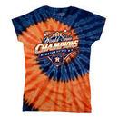 Houston Astros Women's 2017 World Series Champions Spiral Tie-Dye T-Shirt - Navy