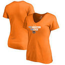 Houston Dynamo Fanatics Branded Women's For Houston V-Neck T-Shirt – Tenn Orange