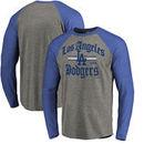 Los Angeles Dodgers Fanatics Branded Hometown Collection Olde LA Long Sleeve T-Shirt - Ash