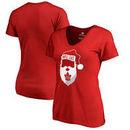 Toronto Maple Leafs Fanatics Branded Women's Jolly Slim Fit V-Neck T-Shirt - Red