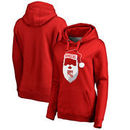 New York Rangers Fanatics Branded Women's Jolly Plus Size Pullover Hoodie - Red