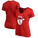 New York Rangers Fanatics Branded Women's Jolly Plus Size V-Neck T-Shirt - Red