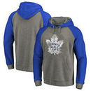 Toronto Maple Leafs Fanatics Branded Big & Tall Team Distressed Pullover Hoodie - Heathered Gray