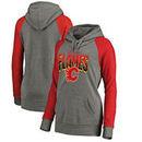 Calgary Flames Fanatics Branded Women's Hometown Collection Tri-Blend Raglan Hoodie – Heathered Gray