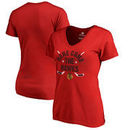 Chicago Blackhawks Fanatics Branded Women's Plus Size Hometown Collection V-Neck T-Shirt – Red