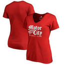 Detroit Red Wings Fanatics Branded Women's Plus Size Hometown Collection V-Neck T-Shirt – Red