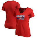 Montreal Canadiens Fanatics Branded Women's Plus Size Hometown Women's V-Neck T-Shirt – Red