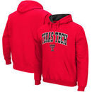 Texas Tech Red Raiders Stadium Athletic Arch & Logo Tackle Twill Pullover Hoodie – Red