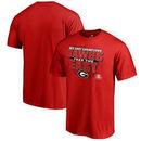Georgia Bulldogs Fanatics Branded 2017 SEC East Football Division Champions Big & Tall T-Shirt - Red