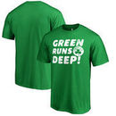 Boston Celtics Fanatics Branded Green Runs Deep Hometown Collection T-Shirt - Kelly Green
