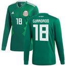Andres Guardado Mexico National Team adidas 2018 Home Replica Long Sleeve Jersey - Green