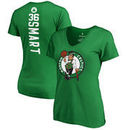 Marcus Smart Boston Celtics Fanatics Branded Women's Backer Name and Number V-Neck T-Shirt - Kelly Green