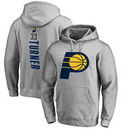 Myles Turner Indiana Pacers Fanatics Branded Backer Name and Number Pullover Hoodie - Heathered Gray