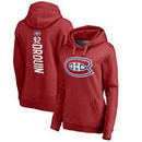 Jonathan Drouin Montreal Canadiens Fanatics Branded Women's Backer Name & Number Pullover Hoodie - Red