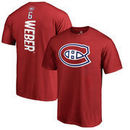 Shea Weber Montreal Canadiens Fanatics Branded Team Logo Backer Name & Number T-Shirt - Red