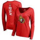Bobby Ryan Ottawa Senators Fanatics Branded Women's Backer Name & Number Slim Fit Long Sleeve V-Neck T-Shirt - Red
