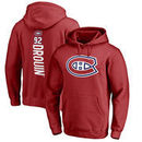 Jonathan Drouin Montreal Canadiens Fanatics Branded Backer Name & Number Pullover Hoodie - Red