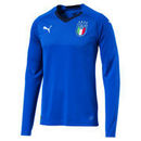Italy National Team Puma 2018 World Cup Home Replica Long Sleeve Blank Jersey – Blue