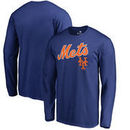 New York Mets Fanatics Branded Big & Tall Cooperstown Collection Wahconah Long Sleeve T-Shirt - Royal