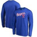 Texas Rangers Fanatics Branded Big & Tall Cooperstown Collection Wahconah Long Sleeve T-Shirt - Royal