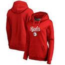 Cincinnati Reds Fanatics Branded Women's Plus Size Team Lockup Pullover Hoodie - Red