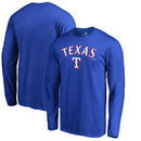 Texas Rangers Fanatics Branded Team Lockup Long Sleeve T-Shirt - Royal