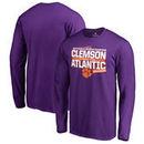 Clemson Tigers Fanatics Branded 2017 ACC Atlantic Football Division Champions Long Sleeve T-Shirt – Purple