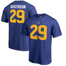Eric Dickerson Los Angeles Rams NFL Pro Line by Fanatics Branded Retired Player Authentic Stack Name & Number T-Shirt – Royal