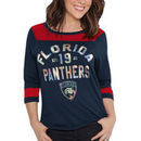 Florida Panthers Touch by Alyssa Milano Women's Kick Off 3/4-Sleeve T-Shirt - Navy/Red