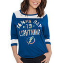 Tampa Bay Lightning Touch by Alyssa Milano Women's Kick Off 3/4-Sleeve T-Shirt - Blue/White