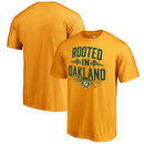 Oakland Athletics Fanatics Branded Hometown Collection Rooted T-Shirt - Gold