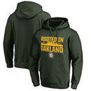 Oakland Athletics Fanatics Branded Hometown Collection Oakland Roots Pullover Hoodie - Green