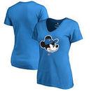 Oklahoma City Thunder Fanatics Branded Women's Disney Game Face V-Neck T-Shirt - Blue