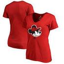 Toronto Raptors Fanatics Branded Women's Disney Game Face V-Neck T-Shirt - Red
