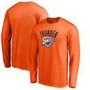 Oklahoma City Thunder Fanatics Branded Primary Team Logo Long Sleeve T-Shirt - Orange
