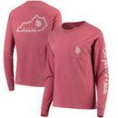 Women's Kentucky Derby 144 Dyed Ring Spun Pocket Long Sleeve T-Shirt - Cardinal