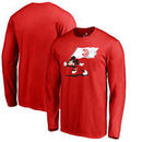 Atlanta Hawks Fanatics Branded Disney Fly Your Flag Long Sleeve T-Shirt - Red