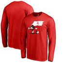 Houston Rockets Fanatics Branded Disney Fly Your Flag Long Sleeve T-Shirt - Red