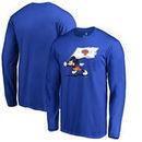 New York Knicks Fanatics Branded Disney Fly Your Flag Long Sleeve T-Shirt - Blue