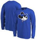 New York Knicks Fanatics Branded Youth Disney Game Face Long Sleeve T-Shirt - Blue