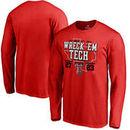 Texas Tech Red Raiders vs. Texas Longhorns Fanatics Branded 2017 Football Score Long Sleeve T-Shirt – Red
