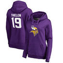 Adam Thielen Minnesota Vikings NFL Pro Line by Fanatics Branded Women's Player Icon Name & Number Pullover Hoodie – Purple