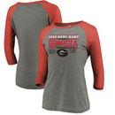 Georgia Bulldogs Fanatics Branded Women's College Football Playoff 2018 Rose Bowl Bound Drive 3/4-Sleeve Raglan T-Shirt – Heathe
